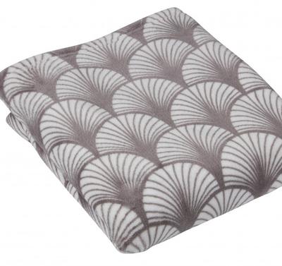 Pläd filt Art Noveau grå shabby chic lantlig stil