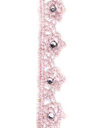 Spetsband spets rosa kantspets uddspets med kristall shabby chic lantlig stil fransk lantstil