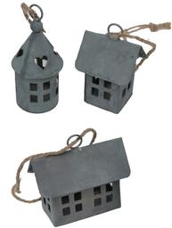 Litet  zinkhus hus i zink Tornhus 3 sorter shabby chic, lantlig stil