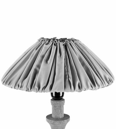 Stor vintage lampskärm skärm plisserad grå shabby chic lantlig stil