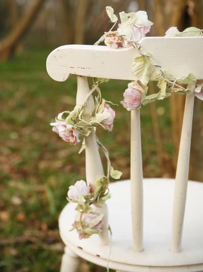Girlang rosa rosor blomslinga rosslinga shabby chic lantlig stil