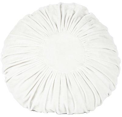 Kudde rund sammet vit shabby chic lantlig stil