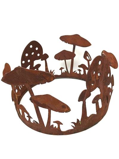 Rostig smide svampar i ring dekoration trädgård 3 storlekar shabby chic lantlig stil