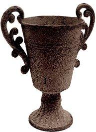 Urna antikbrun i metall Bouvary shabby chic lantlig stil