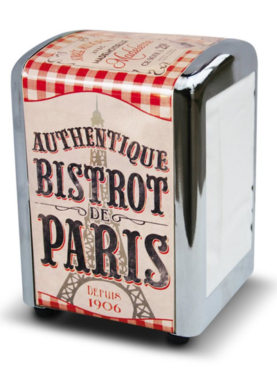 Servettställ retro dispenser Bistrot de Paris Fransk lantstil