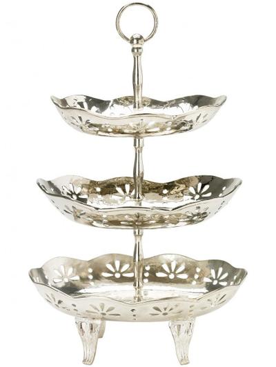 "3 vånings kakfat ""silver"" lisbeth dahl shabby chic lantlig stil"