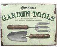 Garden Tools plåtskylt trädgård shabby chic lantlig stil