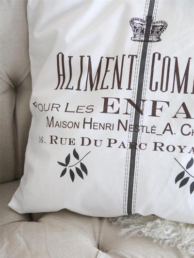 Kuddfodral Alimente Jeanne d´Arc Living shabby chic lantlig stil fransk lantstil