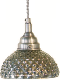 Lampa kotte i fattigmanssilver shabby chic lantlig stil