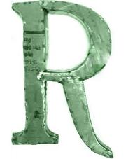 House Doctor plåtbokstav R