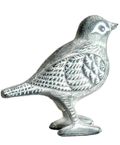 Fågel i gjutjärn shabby chic lantlig stil