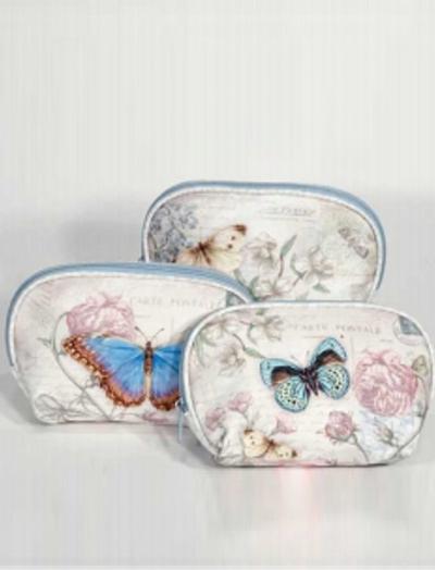 Necessär Vintage romantisk fjäril 3 sorter shabby chic lantlig stil 3 färge