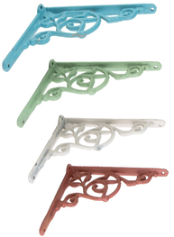 Konsoll hyllbärare gjutjärn snirklig 4 färger gammaldags shabby chic lantlig stil