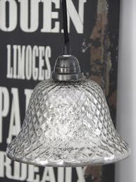 Taklampa lampa fattigmanssilver textilsladd Jeanne d'Arc Living