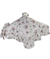 Stolsfodral stolsdyna med kjol rosor romantisk shabby chic lantlig stil