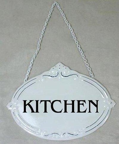 Kitchen plåtskylt