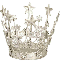 Krona kungakrona prinsesskrona silver antiksilver shabby chic lantlig stil
