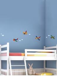 Wallstickers flygplan väggdekoration