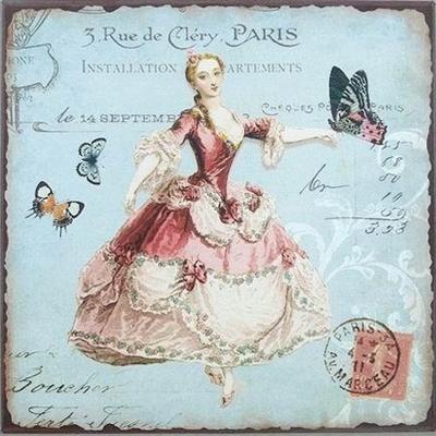Plåtskylt Madam fransk lantstil Rokokodam shabby chis lantlig stil
