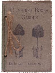 Anteckningsbok notebook Vintage Garden shabby chic lantlig stil