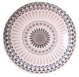 Rund porslinsknopp knopp vit porslin orientalisk shabby chic lantlig stil