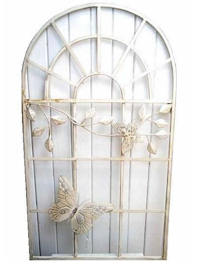 Fönsterdekoration väggdekoration jalusi insynsskydd smide med fjäril shabby chic