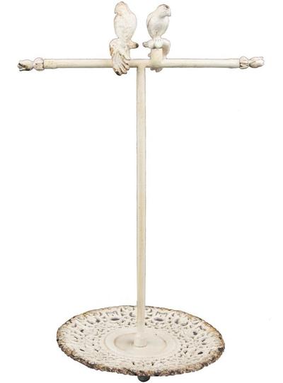 Smyckesställ smyckeshållare antikvit fåglar romantisk shabby chic lantlig stil