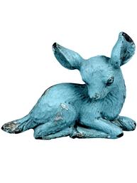 Knopp Bambi Rådjur turkos metall shabby chic lantlig stil