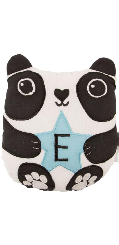 Panda mini kudde E bokstav bomull barnrum shabby chic lantlig stil