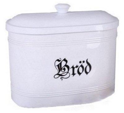 Brödburk i vit  plåt shabby chic lantlig stil