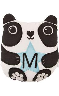 Panda mini kudde M bokstav bomull barnrum shabby chic lantlig stil