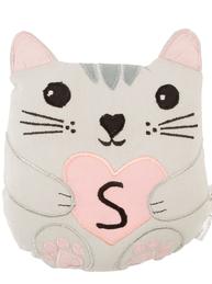 Katt mini kudde bokstav S  bomull barnrum shabby chic lantlig stil