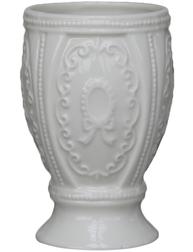 Tandborstmugg mugg ornament vit porslin shabby chic lantlig stil fransk lantstil