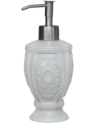 Tvålpump ornament vit porslin shabby chic lantlig stil fransk lantstil