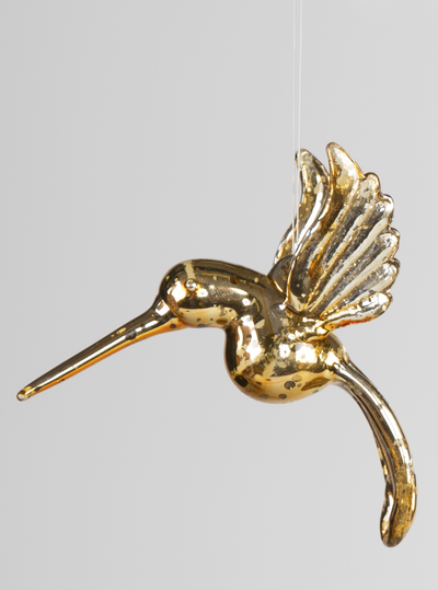Kolibri glasfågel guld shabby chic lantlig stil