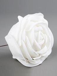 Vit ros i tyg 5, 10 cm per st shabby chic lantlig stil
