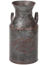 Mjölkhämtare kanna i antikfärgad zink shabby chic lantlig stil trädgård