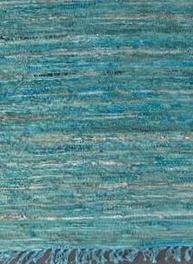 Matta i läder turkosgrön 200x70cm lädermatta