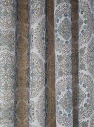 Öljettlängder gardiner öljett grå turkos orient shabby chic lantlig stil