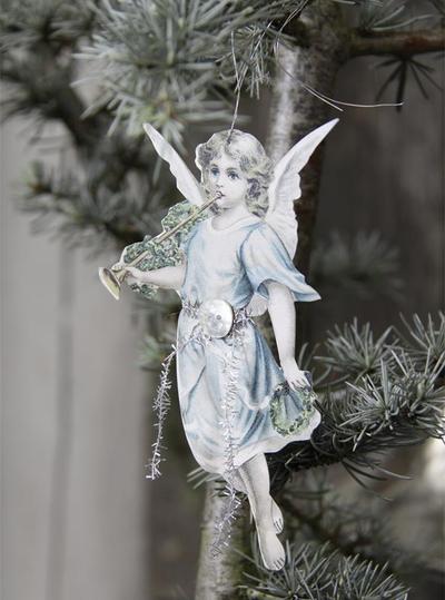 Ängel dekoration i papp Jeanne darc Living shabby chic lantlig stil