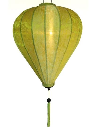 Ballonglampa grön i siden 45cm