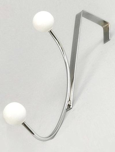 Dubbel krok att hänga över dörr silver vita knoppar shabby chic lantlig stil