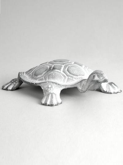 Stor sköldpadda i gjutjärn trädgårdsfigur dekoration