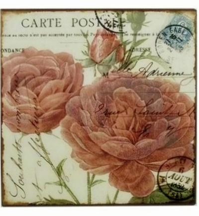Påtskylt rosa pioner shabby chic lantlig stil