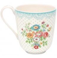Stoneware Latte cup Wendy White/Blu
