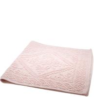Rosa matta bomull ljusrosa dimrosa bomullsmatta mönstervävd lantlig stil