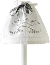 Lampkjol lampskärm Notre Dame vit shabby chic lantlig stil fransk lantstil