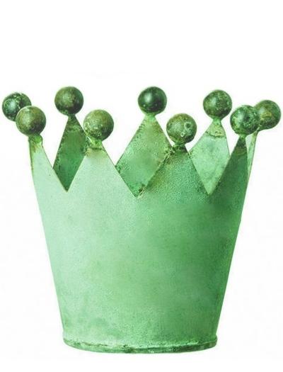 Kruka krona grön shabby chic lantlig stil