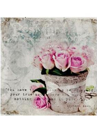 Tavla rosor i kruka 1 shabby chic lantlig stil