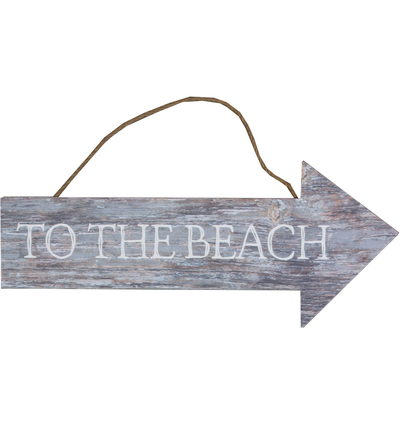 Skylt To the Beach trä shabby chic lantlig stil